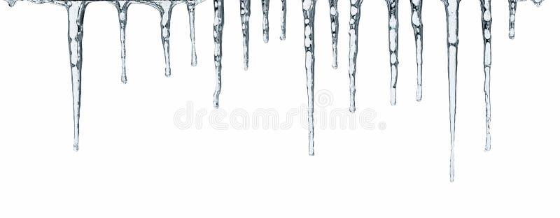Eiszapfen getrennt auf Weiß lizenzfreies stockbild
