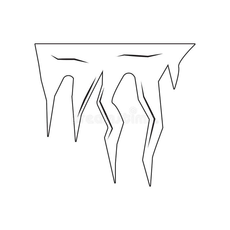 Eiszapfen, Schneekappenikone Element von Desister f?r bewegliches Konzept und Netz Appsikone Entwurf, d?nne Linie Ikone f?r Websi lizenzfreie abbildung