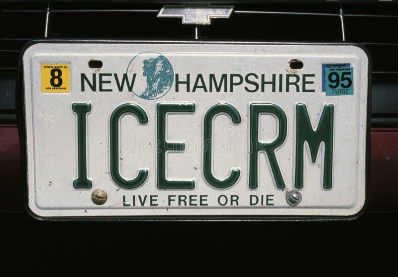 Eitelkeits-Kfz-Kennzeichen von New-Hampshire stockbild