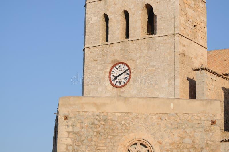 Eivissa镇Dalt维拉视图在伊维萨岛巴利阿里群岛Soain 库存照片