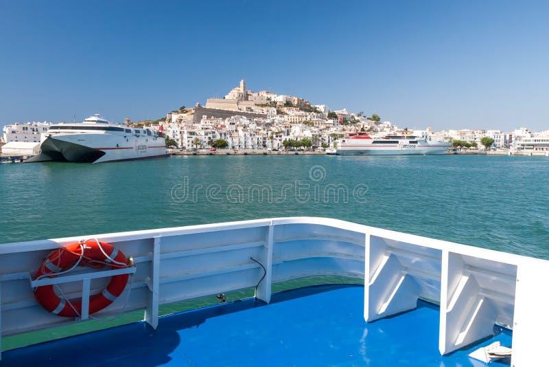 Eivissa - kapitał Ibiza, Hiszpania fotografia stock