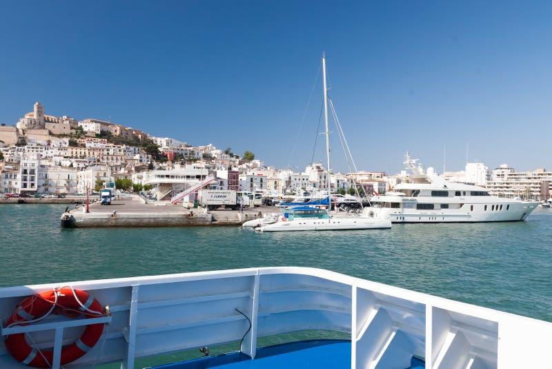Eivissa - la capitale d'Ibiza, Espagne photographie stock libre de droits