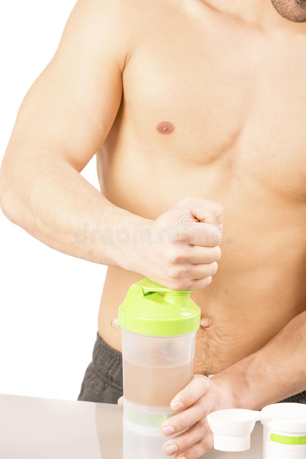 Eiwit de fitness van de schoksport gezonde levensstijl stock fotografie