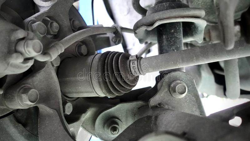 Eixo da movimentação conjunto em um automóvel moderno foto de stock