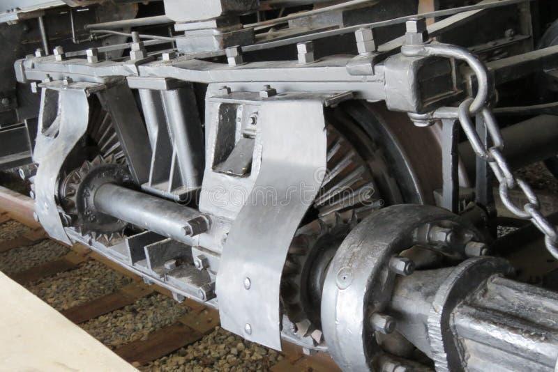 Eixo da movimentação do trem foto de stock