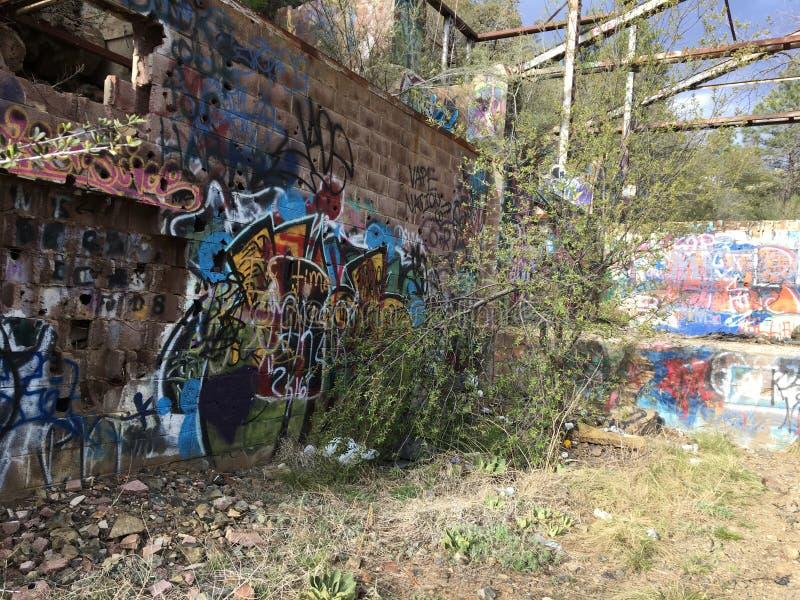 Eixo de mina abandonado foto de stock royalty free