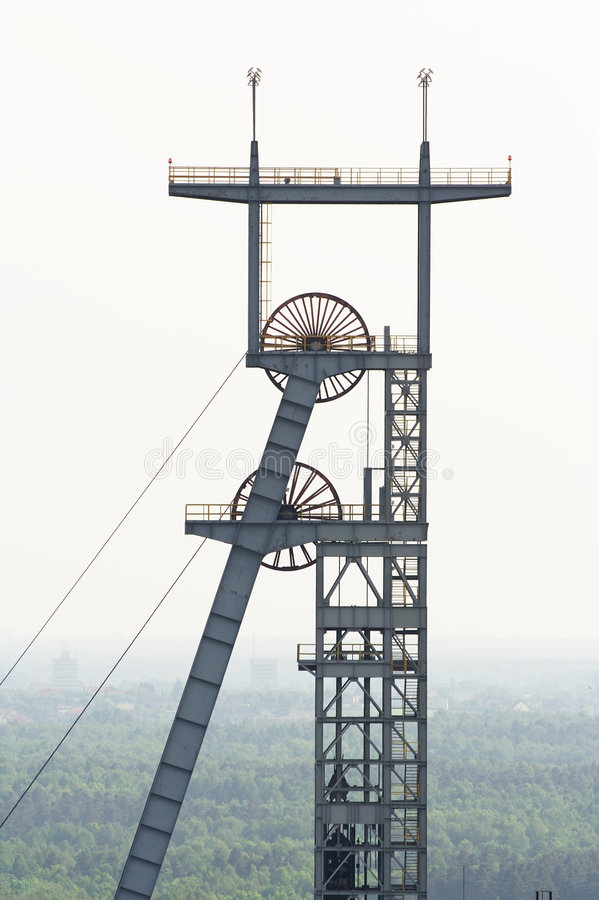 Eixo de mina de carvão fotografia de stock royalty free