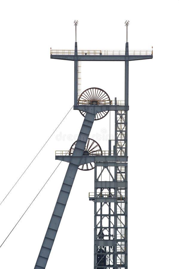 Eixo de mina de carvão imagens de stock
