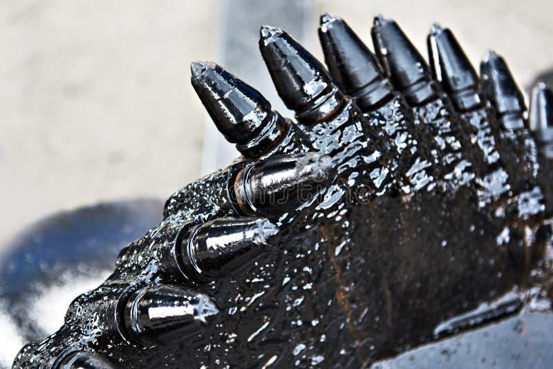 Eixos helicoidais hidráulicos pretos imagens de stock royalty free