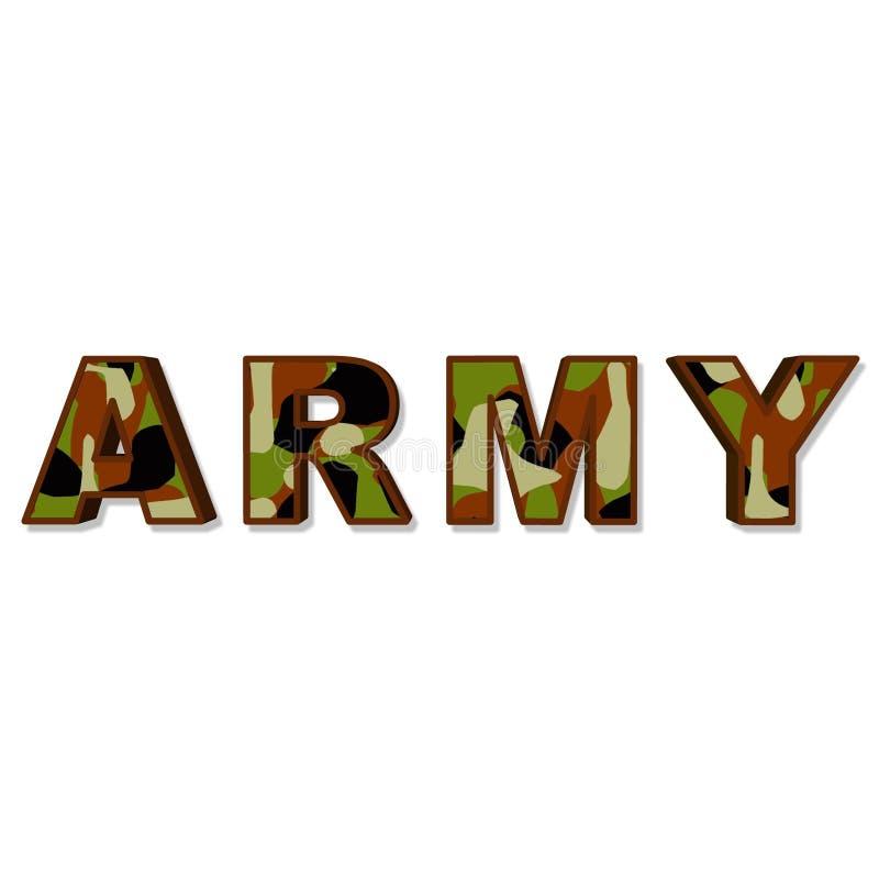 Ejército ilustración del vector