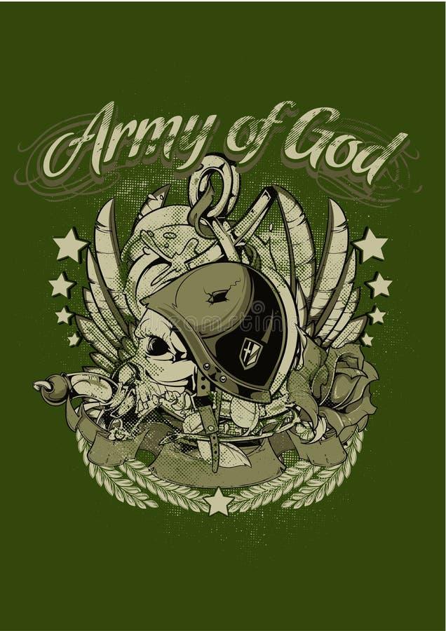 Ejército de dios stock de ilustración