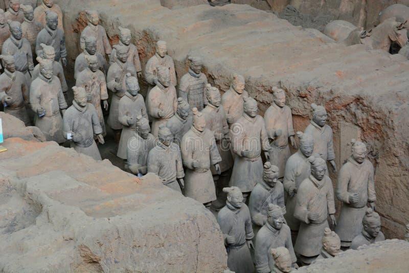 Ejército de la terracota E Provincia de Shaanxi China fotos de archivo libres de regalías