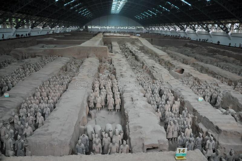 Ejército de la terracota Soldados de la arcilla del emperador chino imágenes de archivo libres de regalías
