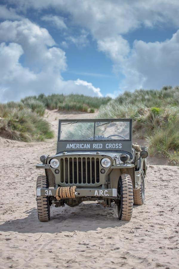 Ejército de los EE. UU. del jeep del MB de Willys imagen de archivo libre de regalías