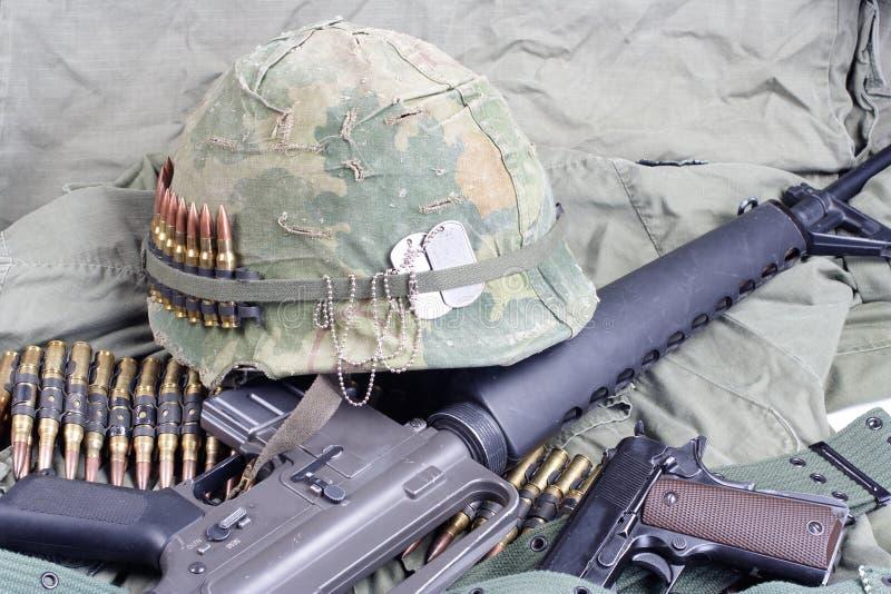 Ejército de los EE. UU. en concepto del período de la guerra de Vietnam - de Vietnam foto de archivo libre de regalías