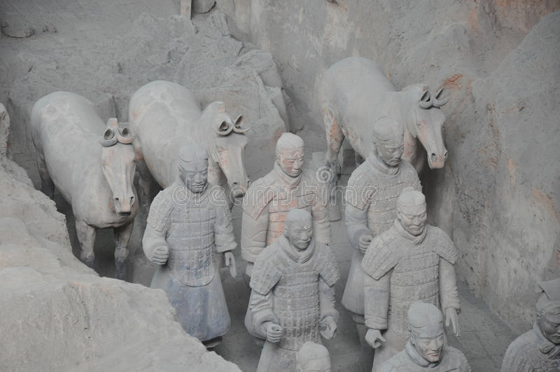 Ejército de los guerreros de la terracota imagen de archivo libre de regalías