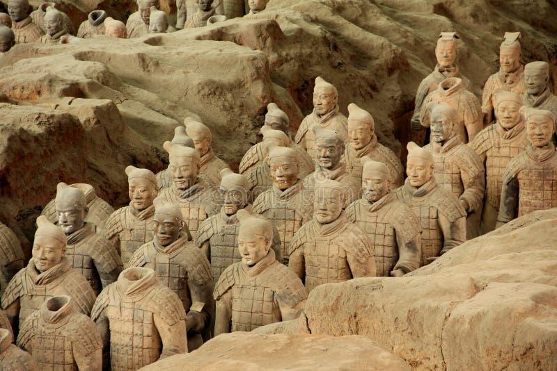 Ejército de los guerreros de la terracota foto de archivo