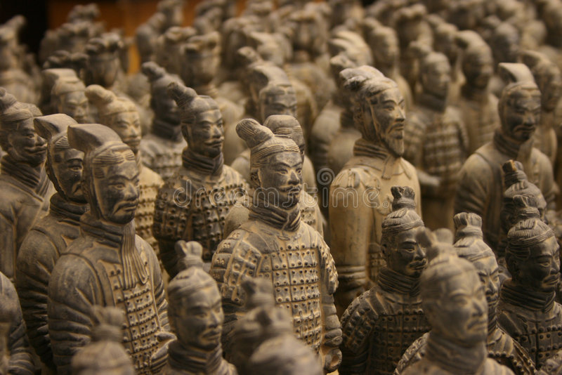 Ejército de los guerreros de la terracota fotografía de archivo