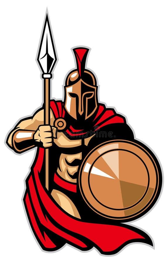 Ejército espartano stock de ilustración