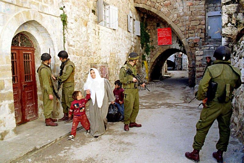 EJÉRCITO ISRAELÍ EN CISJORDANIA imagen de archivo libre de regalías