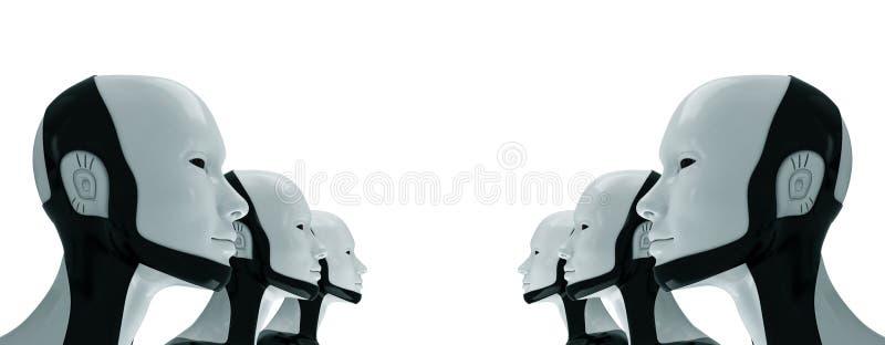 Ejército robótico de futuro ilustración del vector