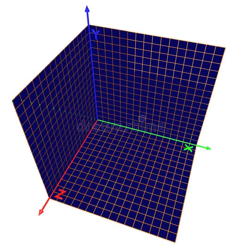Eje de los coordenadas ilustración del vector