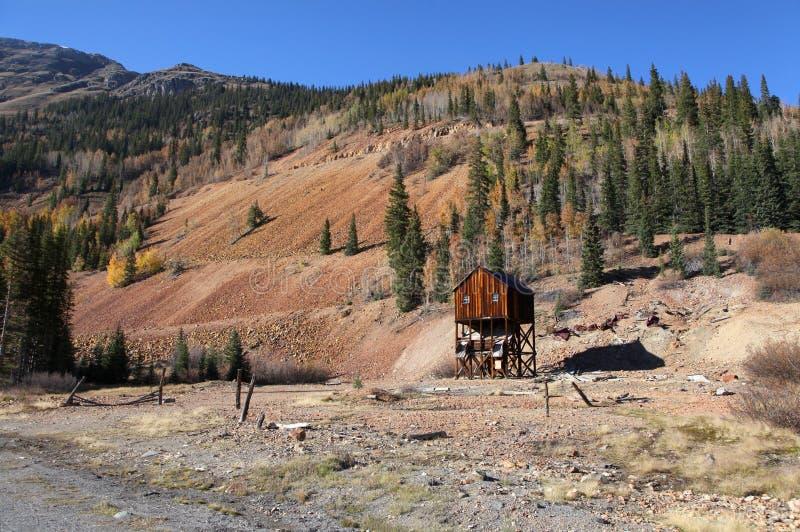 Eje de mina abandonado foto de archivo