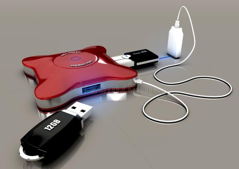 Eje del USB foto de archivo