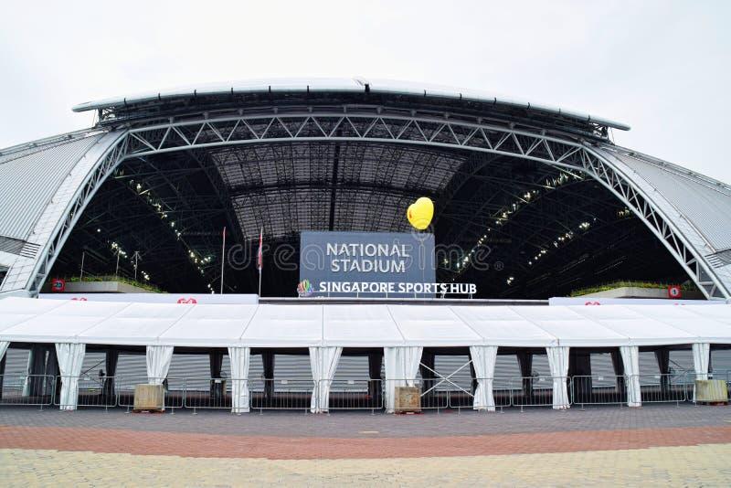 Eje nacional de los deportes del estadio de Singapur fotos de archivo libres de regalías