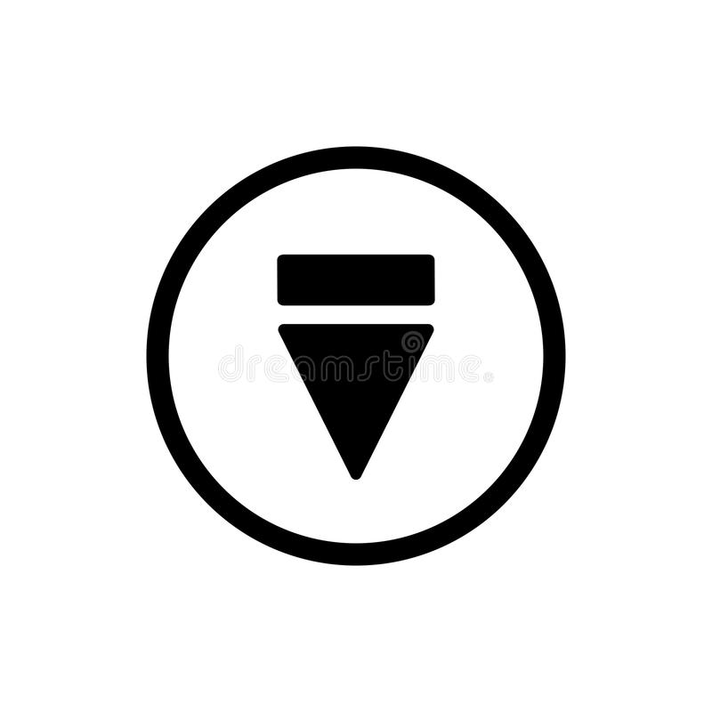 Eject button icon. outline solid eject button vector icon. on white background. Eject button icon. simple outline eject button vector icon. on white background royalty free illustration