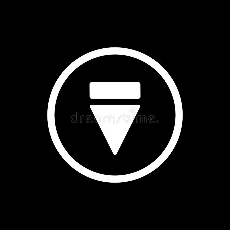 Eject button icon. simple solid eject button vector icon. on black background. Eps 10 vector illustration