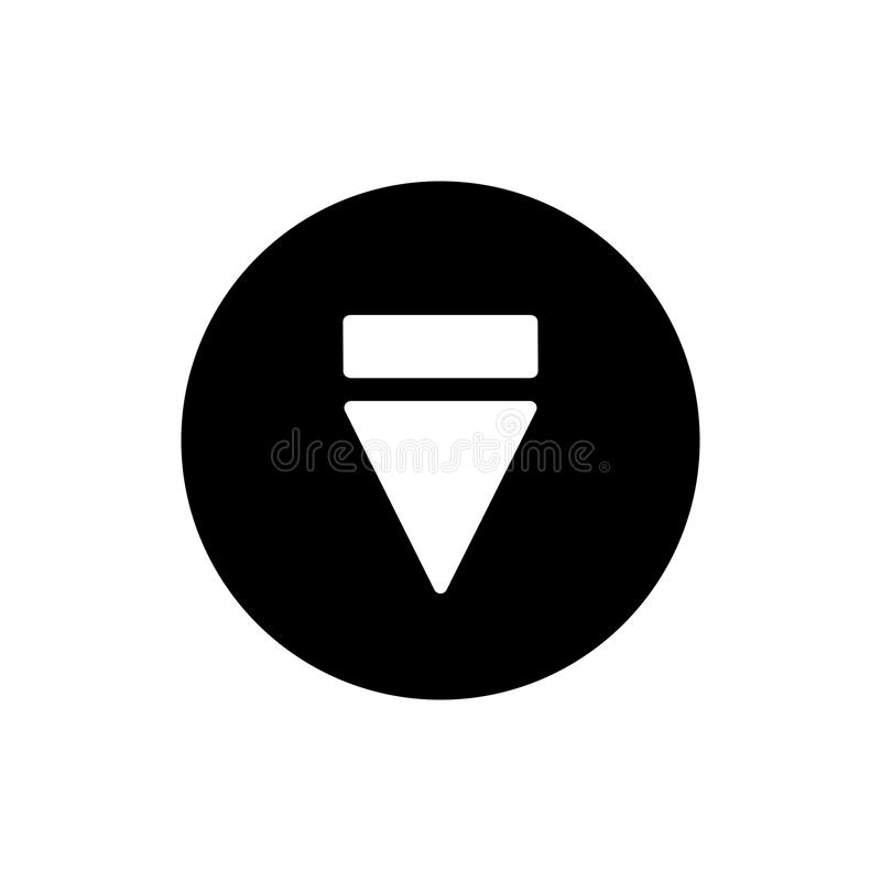 Eject button icon. simple solid eject button vector icon. on white background. Eps 10 royalty free illustration