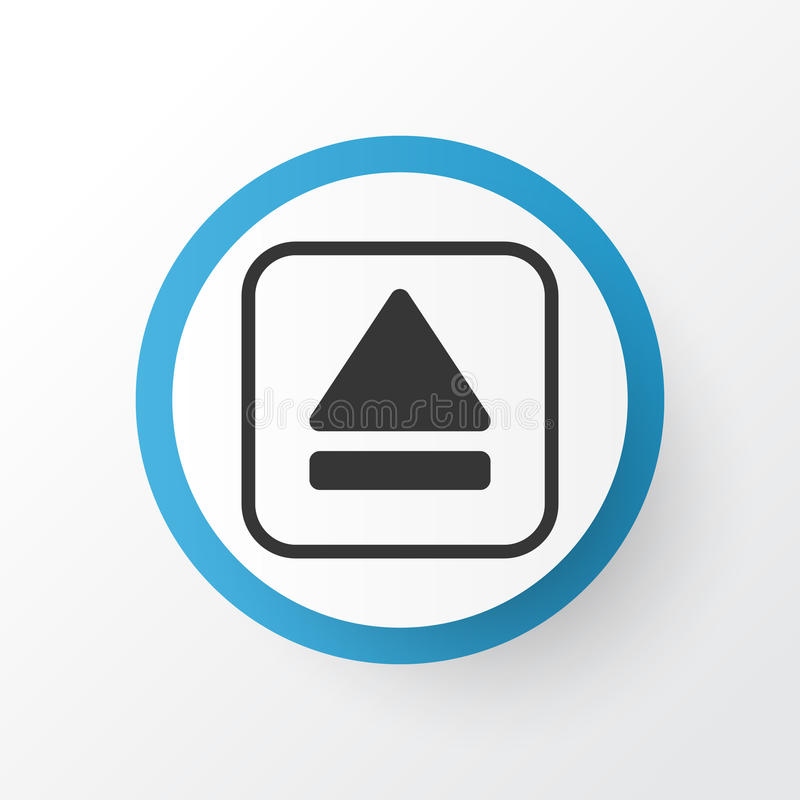Eject Button Icon Symbol. Premium Quality Isolated Extract Device Element In Trendy Style. Premium Quality Isolated Extract Device Element In Trendy Style royalty free illustration