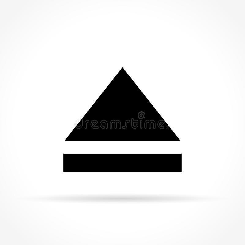 Eject icon on white background. Illustration of eject icon on white background vector illustration