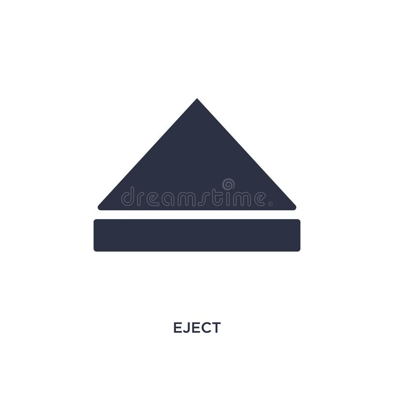 Eject icon on white background. Simple element illustration from interface concept. Eject icon. Simple element illustration from interface concept. eject vector illustration