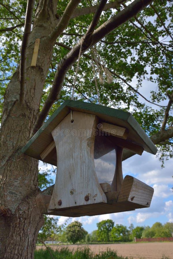 ejecución de la Pájaro-casa en un árbol imagen de archivo