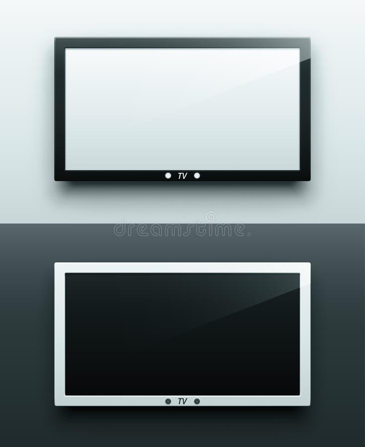 Ejecución de la pantalla de la TV ilustración del vector