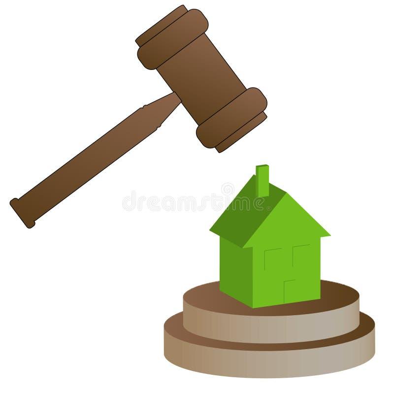 Ejecución de una hipoteca casera stock de ilustración