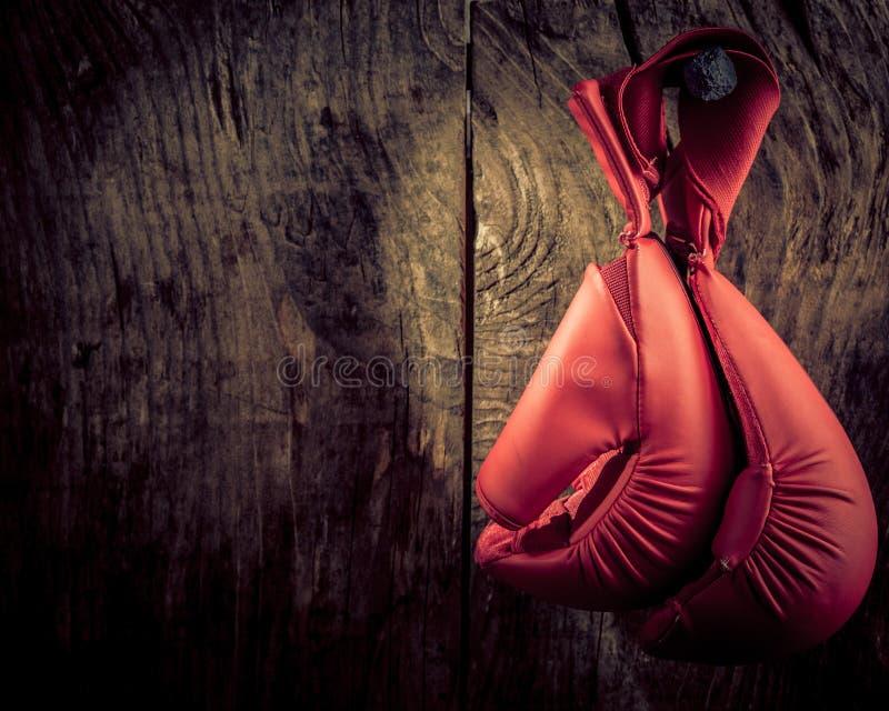 Ejecución del guante de boxeo imagenes de archivo