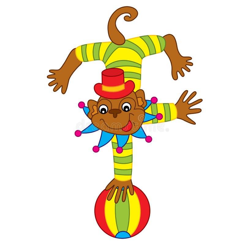 Ejecución del mono del circo del vector stock de ilustración