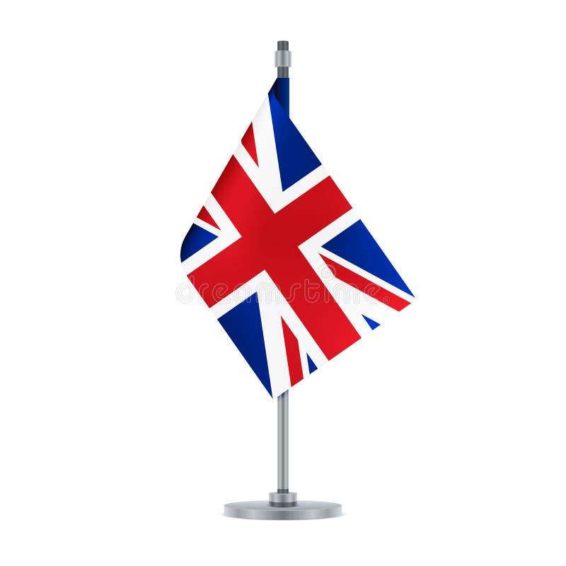 Ejecución inglesa en el polo metálico, ejemplo de la bandera libre illustration