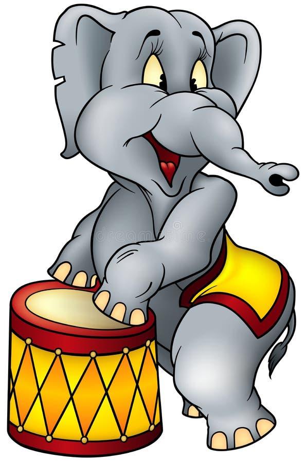 Ejecutante de circo del elefante stock de ilustración