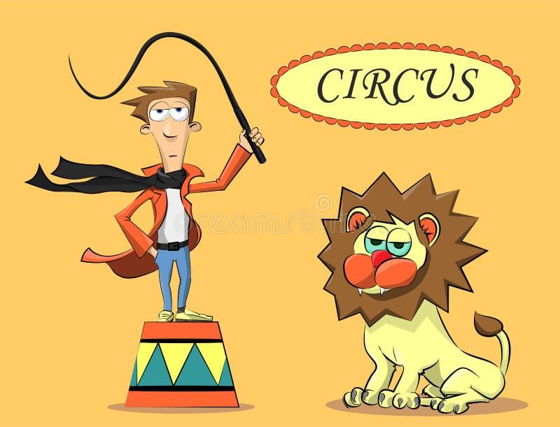 Ejecutante de circo y el león libre illustration