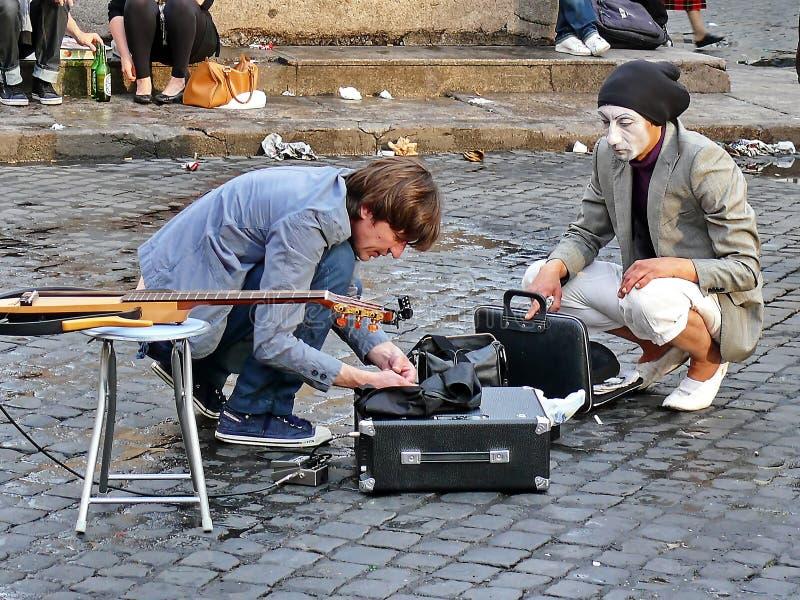 Ejecutante de la calle foto de archivo libre de regalías
