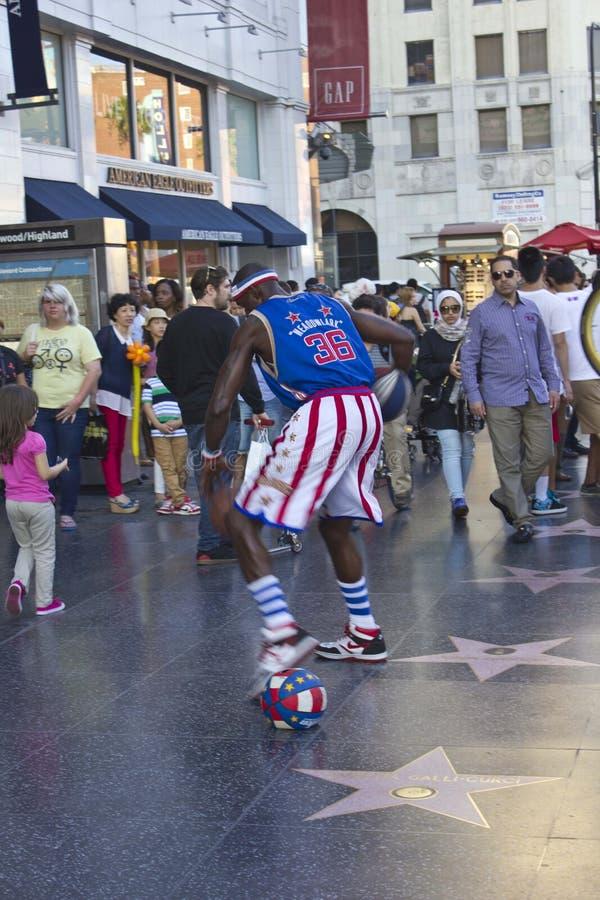 Ejecutante de la calle en Hollywood Boulevard fotografía de archivo