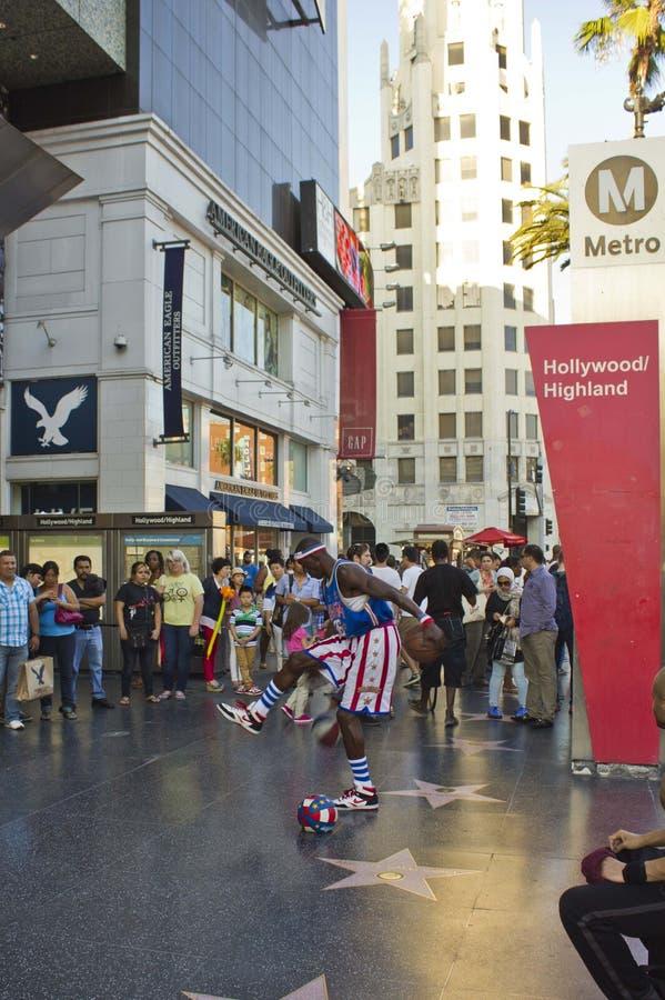 Ejecutante de la calle en Hollywood Boulevard foto de archivo