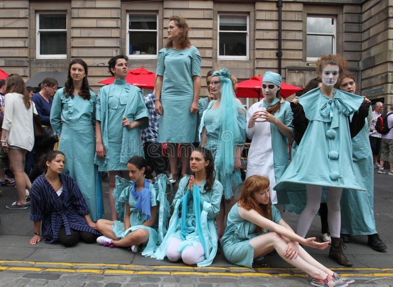 Ejecutante durante festival de la franja de Edimburgo fotos de archivo libres de regalías