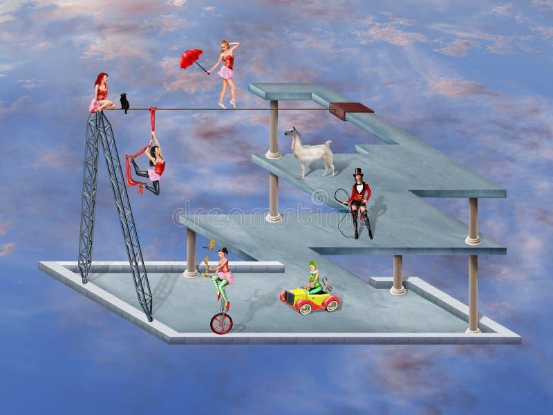 Circo imposible stock de ilustración