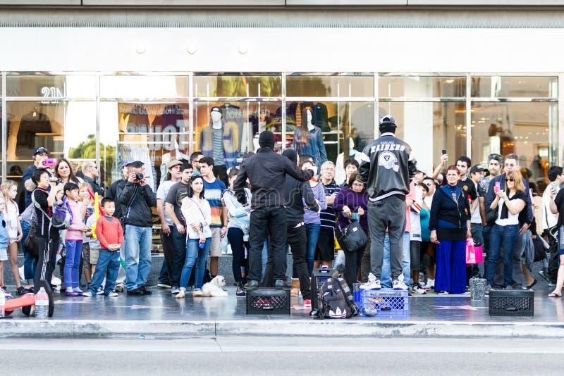 Ejecutantes de la calle fotografía de archivo