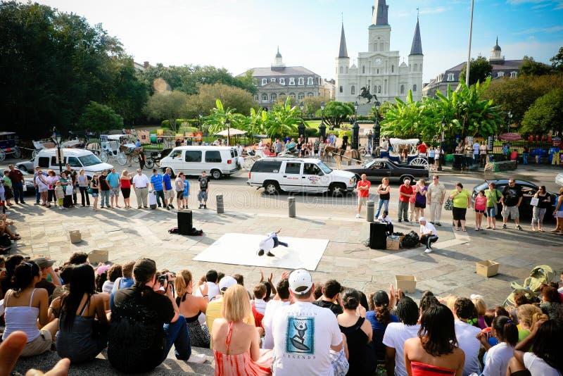 Ejecutantes de la calle de New Orleans fotos de archivo libres de regalías